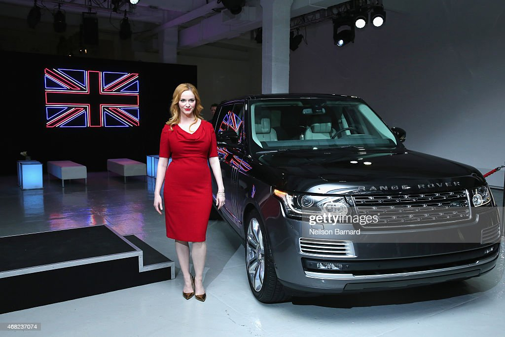 Emmy® nominated actress Christina Hendricks with Range Rover SVAutobiography at Jaguar Land Rover's exclusive reception to celebrate the 2015 New York International Auto Show at Center548 in New York City on March 31, 2015 in New York City.