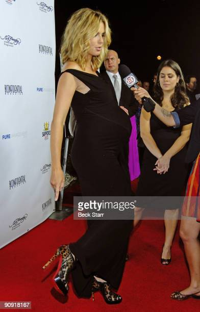 Emmy Nominated Project Runway Host Heidi Klum arrives to the Los Angeles Confidential Magazine Annual Pre-Emmy Party on September 17, 2009 in Belair,...