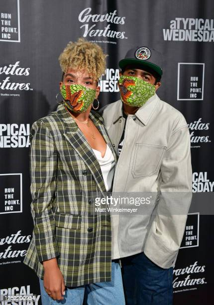 Emmy RaverLampman and Daveed Diggs attend aTypical Wednesday Los Angeles Premiere at The Montalban on June 24 2020 in Hollywood California