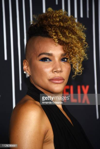 Emmy RaverLampman arrives at the premiere of Netflix's The Umbrella Academy at the ArcLight Hollywood on February 12 2019 in Hollywood California