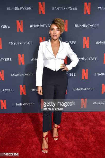 Emmy RaverLampman attends Netflix's 'Umbrella Academy' Screening at Raleigh Studios on May 11 2019 in Los Angeles California