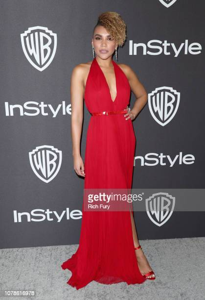 Emmy RaverLampman attends the InStyle And Warner Bros Golden Globes After Party 2019 at The Beverly Hilton Hotel on January 6 2019 in Beverly Hills...