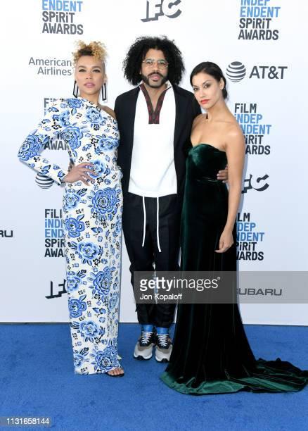 Emmy RaverLampman Daveed Diggs and Janina Gavankar attend the 2019 Film Independent Spirit Awards on February 23 2019 in Santa Monica California