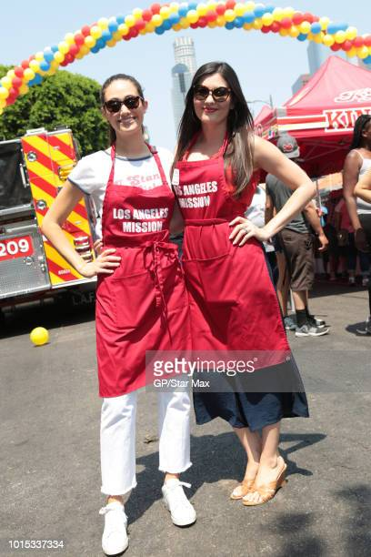 Emmy Rossum and Celeste Thorson are seen on August 11 2018 in Los Angeles CA