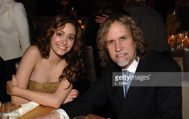 Emmy Rossum and Glen Ballard during 'Poseidon' Los Angeles Premiere After Party at Hollywood and Highland Ballroom in Hollywood California United...