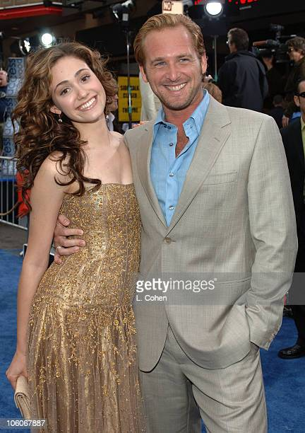 Emmy Rossum and Josh Lucas during 'Poseidon' Los Angeles Premiere Red Carpet at Grauman's Chinese Theater in Hollywood California United States