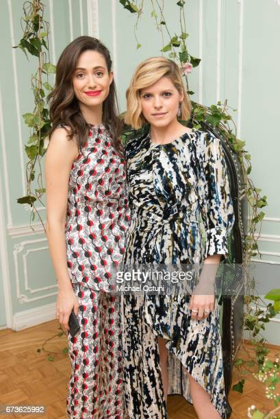 Emmy Rossum and Kate Bolduan attends the Free Arts NYC 18th Annual Art Auction at 2 East 79th Street on April 26 2017 in New York City