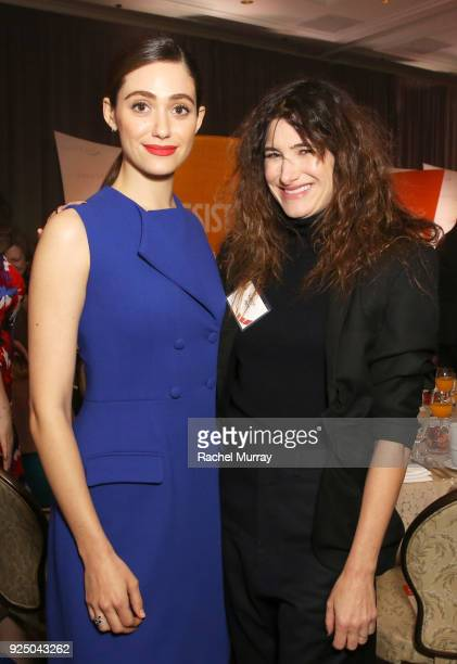 Emmy Rossum and Kathryn Hahn attend EMILY's List's Resist Run Win PreOscars Brunch on February 27 2018 in Los Angeles California