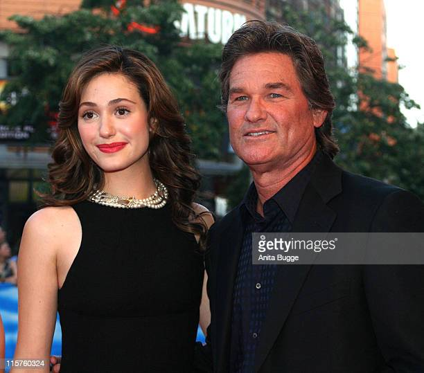 Emmy Rossum and Kurt Russell during 'Poseidon' Germany Premiere Arrivals in Berlin Berlin Germany