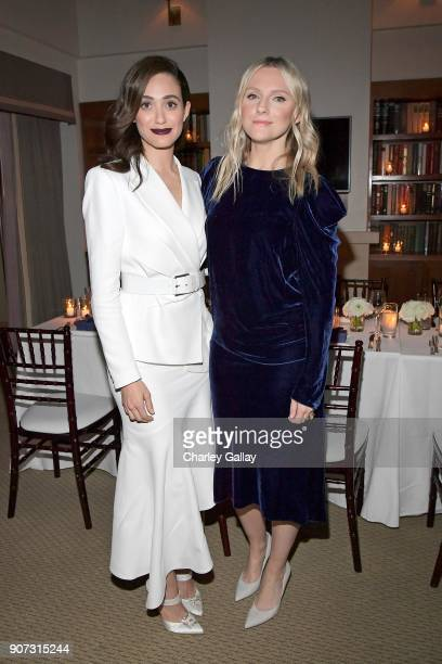 Emmy Rossum and Laura Brown attend the Opening of Beverly Hills Boutique with a private VIP dinner hosted by Giovanni Morelli Stuart Weitzman...