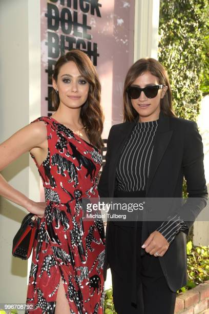 Emmy Rossum and Mandana Dayani attend the Beats By Dre for Violet Grey party on July 11 2018 in West Hollywood California