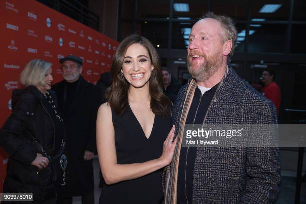 Emmy Rossum and Matt Walsh attend the 2018 Sundance Film Festival premiere of Netflixs film A Futile And Stupid Gesture at Eccles Center Theatre on...