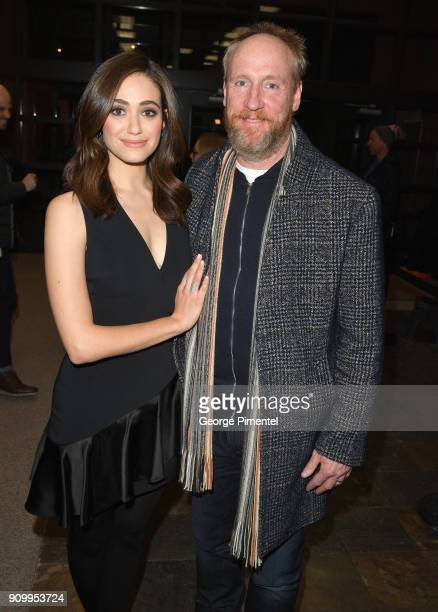 Emmy Rossum and Matt Walsh attend the 'A Futile And Stupid Gesture' Premiere during the 2018 Sundance Film Festival at Eccles Center Theatre on...