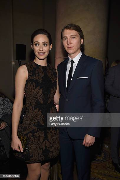 Emmy Rossum and Paul Dano attend the 25th IFP Gotham Independent Film Awards cosponsored by FIJI Water at Cipriani Wall Street on November 30 2015 in...