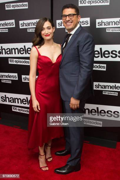Emmy Rossum and Sam Esmail arrive for Showtime's 'Shamelesss' 100 Episode Celebration at DREAM Hollywood on June 9 2018 in Hollywood California