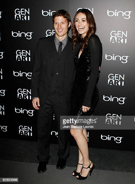 Emmy Rossum and Zach Gilford attend the Los Angeles premiere of 'Dare' at Pacific Design Center on November 5 2009 in West Hollywood California