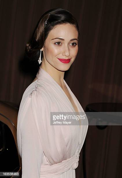 Emmy Rossum arrives at Global Green USA's 10th Annual PreOscar party at Avalon on February 20 2013 in Hollywood California