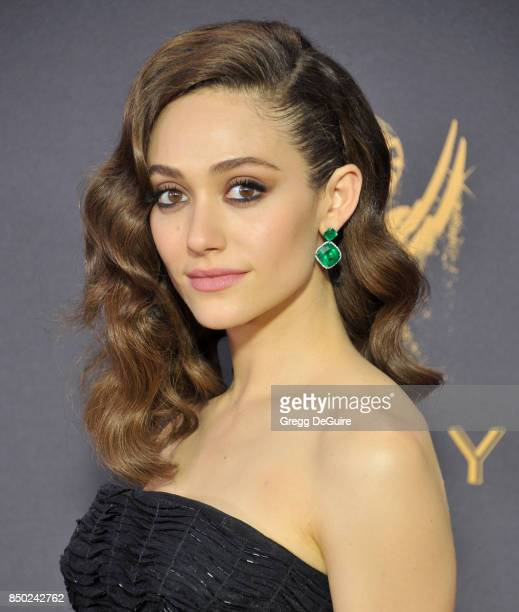 Emmy Rossum arrives at the 69th Annual Primetime Emmy Awards at Microsoft Theater on September 17 2017 in Los Angeles California