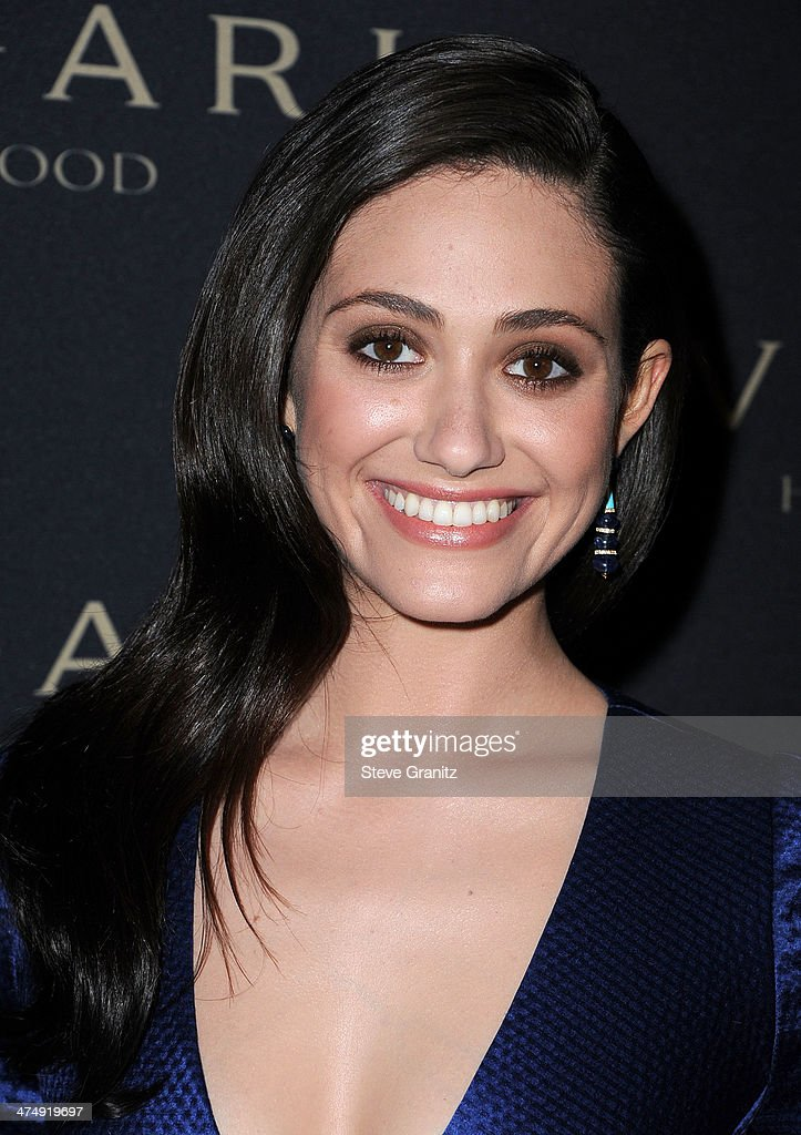 Emmy Rossum arrives at the BVLGARI 'Decades Of Glamour' Oscar Party Hosted By Naomi Watts at Soho House on February 25, 2014 in West Hollywood, California.
