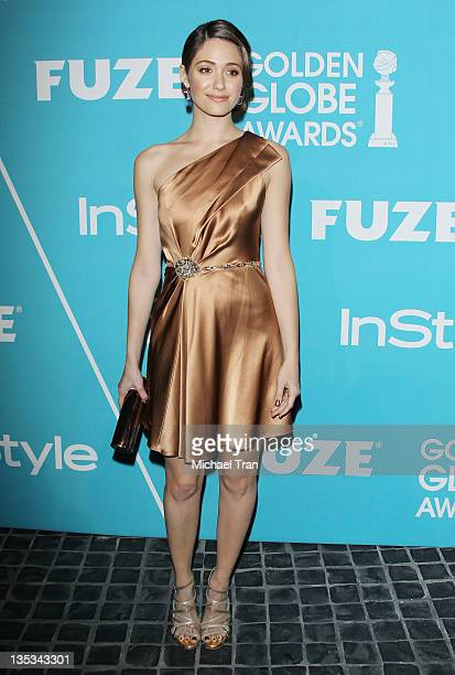 Emmy Rossum arrives at The Hollywood Foreign Press Association and InStyle hosts A Night of Firsts held at Cecconi's Restaurant on December 8 2011 in...
