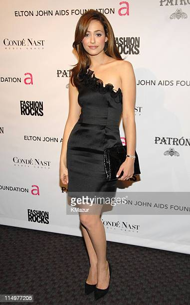 Emmy Rossum at Conde Nast Media Group presents Elton John and the debut of his new album 'The Captain The Kid' at the official Fashion Rocks'...