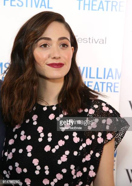 Emmy Rossum attend the 2018 Williamstown Theatre Festival Gala at the Tao Downtown on February 5 2018 in New York City