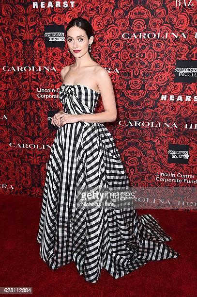 Emmy Rossum attends An Evening Honoring Carolina Herrera at Alice Tully Hall at Lincoln Center on December 6 2016 in New York City
