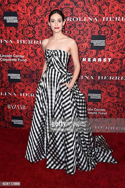 Emmy Rossum attends An Evening Honoring Carolina Herrera at Alice Tully Hall at Lincoln Center on December 6 2016 in New York City