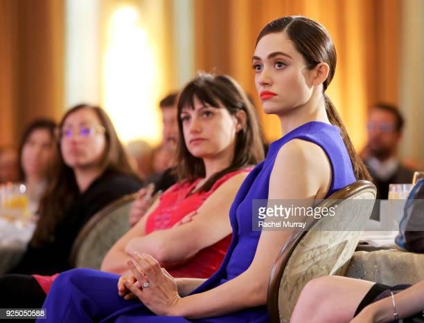 Emmy Rossum attends EMILY's List's Resist Run Win PreOscars Brunch on February 27 2018 in Los Angeles California