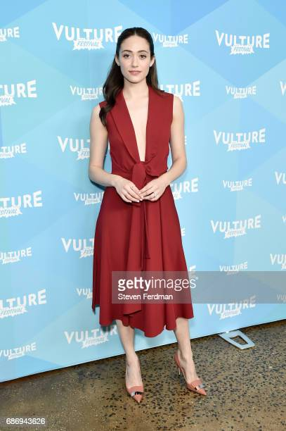 Emmy Rossum attends Shameless panel during Vulture Festival at Milk Studios on May 21 2017 in New York City
