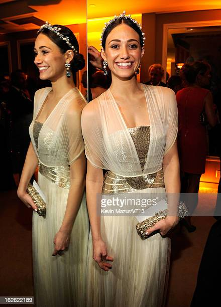 Emmy Rossum attends the 2013 Vanity Fair Oscar Party hosted by Graydon Carter at Sunset Tower on February 24, 2013 in West Hollywood, California.