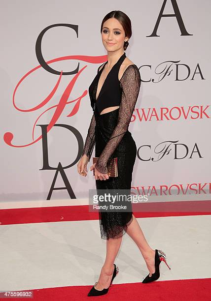 Emmy Rossum attends the 2015 CFDA Fashion Awards at Alice Tully Hall at Lincoln Center on June 1 2015 in New York City