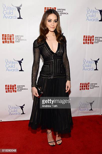 Emmy Rossum attends the 2016 Writers Guild Awards New York Ceremony at The Edison Ballroom on February 13, 2016 in New York City.