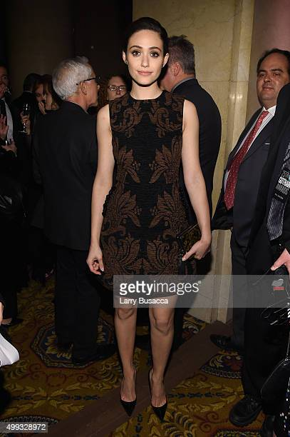 Emmy Rossum attends the 25th IFP Gotham Independent Film Awards cosponsored by FIJI Water at Cipriani Wall Street on November 30 2015 in New York City