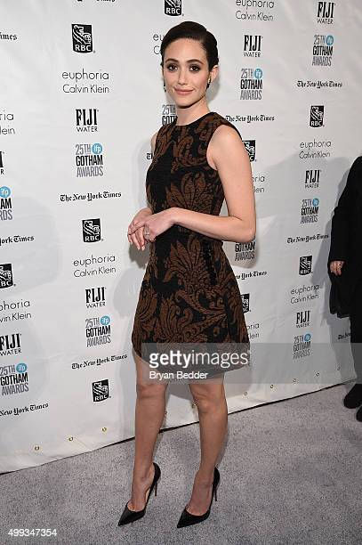 Emmy Rossum attends the 25th IFP Gotham Independent Film Awards cosponsored by FIJI Water on November 30 2015 in New York City