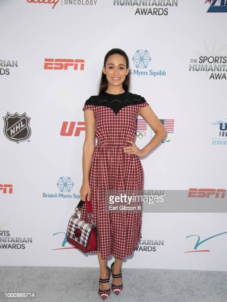 Emmy Rossum attends the 4th Annual Sports Humanitarian Awards at The Novo by Microsoft on July 17 2018 in Los Angeles California