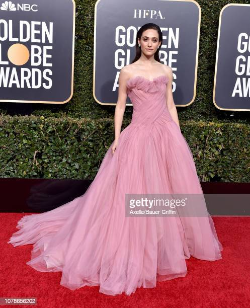 Emmy Rossum attends the 76th Annual Golden Globe Awards at The Beverly Hilton Hotel on January 6 2019 in Beverly Hills California