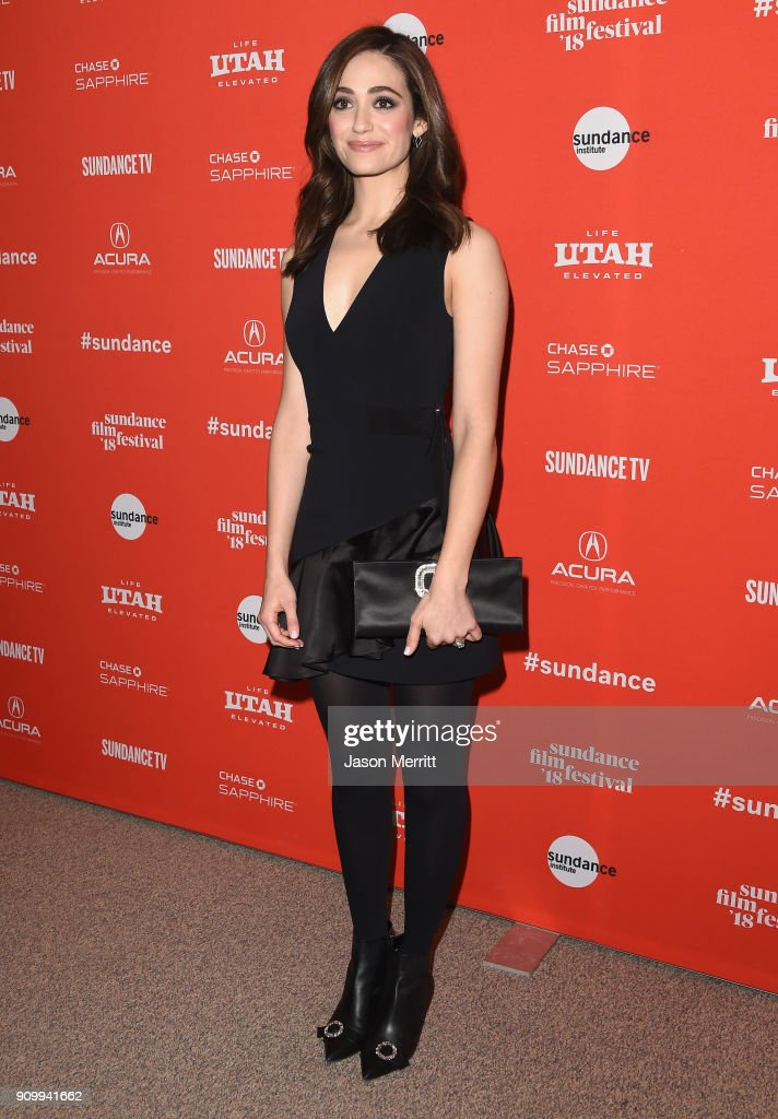 Emmy Rossum attends the 'A Futile And Stupid Gesture' Premiere during the 2018 Sundance Film Festival at The Shop on January 24, 2018 in Park City, Utah.