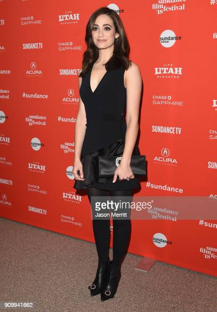 Emmy Rossum attends the A Futile And Stupid Gesture Premiere during the 2018 Sundance Film Festival at The Shop on January 24 2018 in Park City Utah