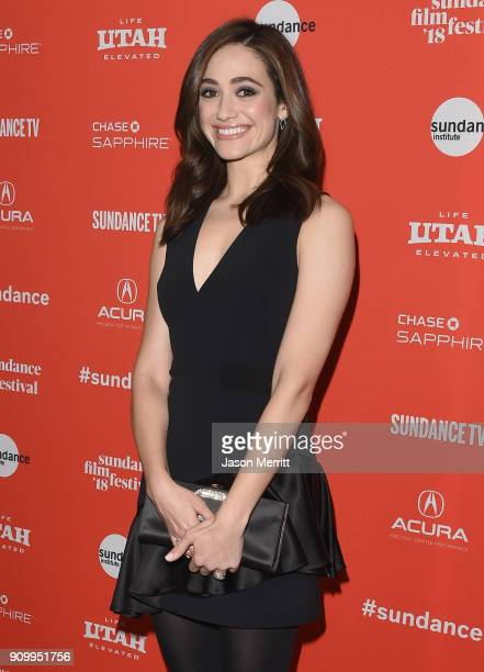 Emmy Rossum attends the A Futile And Stupid Gesture Premiere during the 2018 Sundance Film Festival at Eccles Center Theatre on January 24 2018 in...