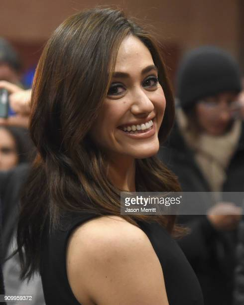 Emmy Rossum attends the 'A Futile And Stupid Gesture' Premiere during the 2018 Sundance Film Festival at Eccles Center Theatre on January 24 2018 in...