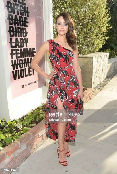 Emmy Rossum attends the Beats By Dre for Violet Grey party on July 11 2018 in West Hollywood California