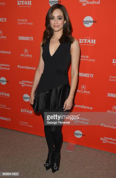 Emmy Rossum attends the Feature Film Competition Dinner during the 2018 Sundance Film Festival at The Shop on January 24 2018 in Park City Utah