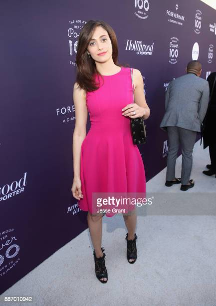 Emmy Rossum attends The Hollywood Reporter's 2017 Women In Entertainment Breakfast at Milk Studios on December 6 2017 in Los Angeles California