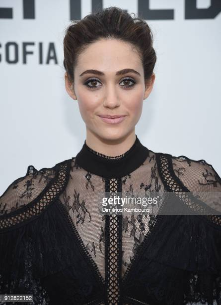 Emmy Rossum attends 'The Minefield Girl' Audio Visual Book Launch at Lightbox on January 31 2018 in New York City