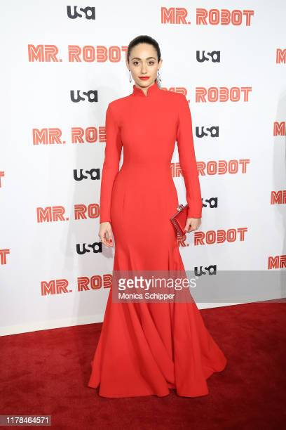 Emmy Rossum attends the Mr Robot Season 4 Premiere on October 01 2019 in New York City