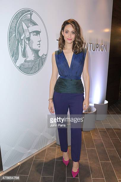 Emmy Rossum attends The Opening Of The Centurion Lounge celebrated by American Express at Miami International Airport on June 2 2015 in Miami Florida