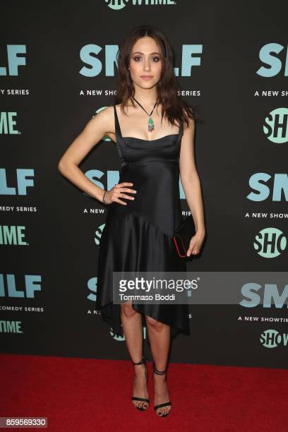Emmy Rossum attends the Premiere Of Showtime's SMILF held at Harmony Gold Theater on October 9 2017 in Los Angeles California