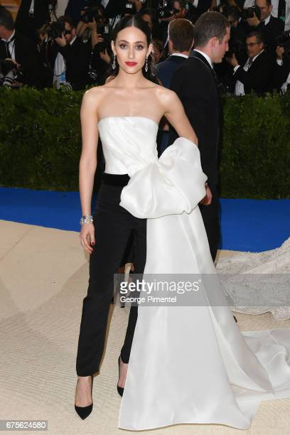 Emmy Rossum attends the Rei Kawakubo/Comme des Garcons Art Of The InBetween Costume Institute Gala at Metropolitan Museum of Art on May 1 2017 in New...