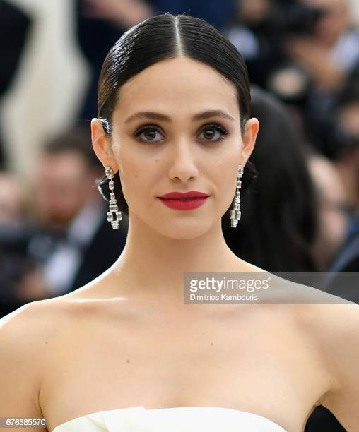 Emmy Rossum attends the 'Rei Kawakubo/Comme des Garcons Art Of The InBetween' Costume Institute Gala at Metropolitan Museum of Art on May 1 2017 in...